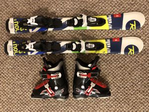 Kid Skis & Boots (Rossignol/ Nordica) for Sale in Wenatchee, WA
