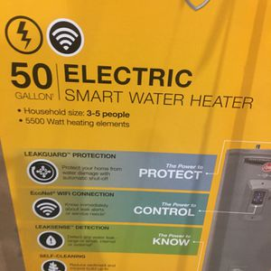 Rheem Gladiator 50 Gal. Tall 12 Year 5500/5500 Watt Smart Electric Water Heater with Leak Detection and Auto Shutoff for Sale in Austell, GA