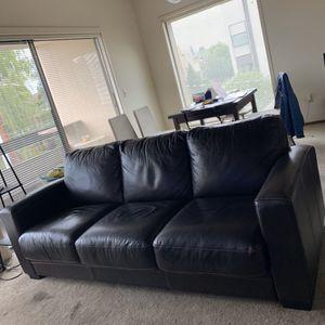 Dania Leather Sleeper Sofa (Pavel) for Sale in Seattle, WA