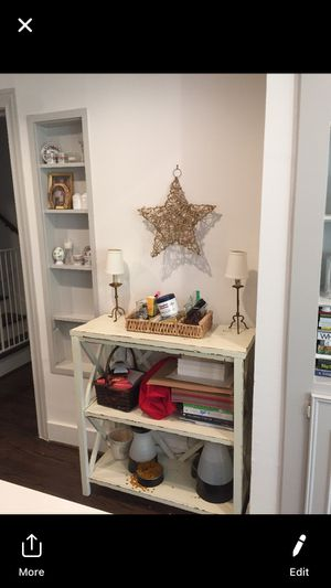 Bookshelf console or open storage shelves for Sale in Houston, TX
