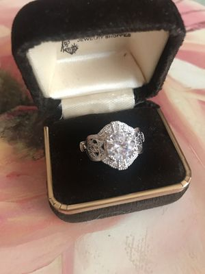 Vintage 925 Stamped Sterling silver White Sapphire Promised/Engagement Ring Sz6.5 for Sale in Itasca, IL