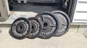 Weight bench plates for Sale in Wake Forest, NC