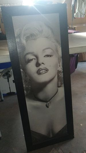 Marilyn monroe long portrait for Sale in Bakersfield, CA