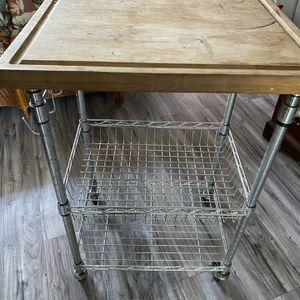 Kitchen Utility Cart W/Cutting Board for Sale in Spring Valley, CA
