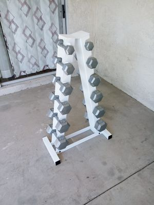 Hex Dumbbell Set 5-30lbs for Sale in Las Vegas, NV