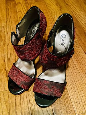 Carlos Santana Red Lace Zippered Pumps/Heels Size: 8 for Sale in Lorton, VA