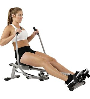 Sunny Health & Fitness SF-RW5639 Full Motion Rowing Machine Rower w/ 350 lb Weight Capacity and LCD Monitor for Sale in Glendale, AZ