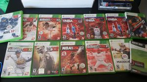 13 x box 360 sports game for Sale in Kansas City, KS