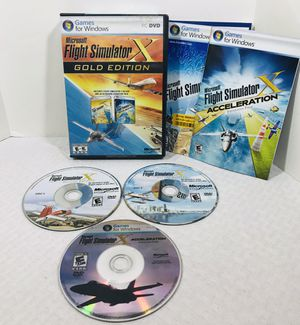 2008 Microsoft Flight Simulator X: Gold Edition Expansion Pack PC Windows for Sale in Pawtucket, RI