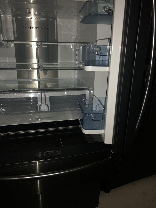 Samsung Refrigerator Black Stainless Steel 4 Door Door In