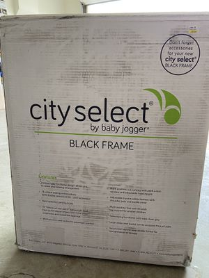 City select baby jogger black frame w/red seat for Sale in Laguna Beach, CA