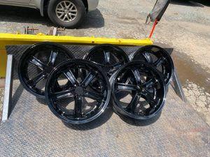 "19"" black Rims Wheels 350z g35 5x114.3mm 5x4.5"" for Sale in Salem, MA"