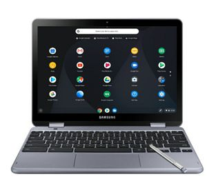 """Samsung - Plus 2-in-1 12.2"""" Touch-Screen Chromebook - Intel Celeron - 4GB Memory - 32GB eMMC Flash Memory - Stealth Silver for Sale in Vacaville, CA"""