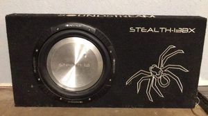 "13"" Shallow mount Sub Box and Amp for Sale in Waynesville, MO"