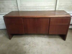 w/Keys 60s Harry Lunstead Credenza Cabinet Drawers Very Solid Heavy for Sale in Oklahoma City, OK