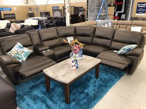 BRAND NEW FABRIC SECTIONAL SOFA BROWN for Sale in Fort Worth, TX