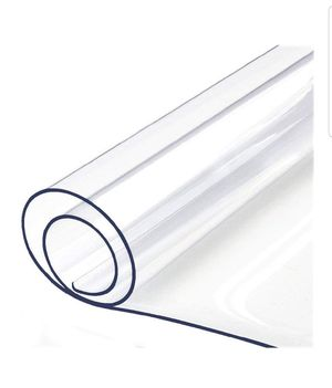 Table Protector Clear Vinyl Plastic Tablecloth Rectangle Wood Furniture Stain Protector Water Resistant Wipeable Cover Glass Top Coffee End for Sale in Bakersfield, CA