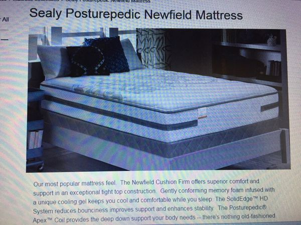 Sealy Posturepedic Newfield Cushion Firm Queen Matress For Sale In
