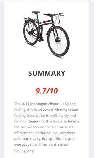 """Montague Speed Belt Drive Folding Bike 21"""" for Sale in Phoenix, AZ"""
