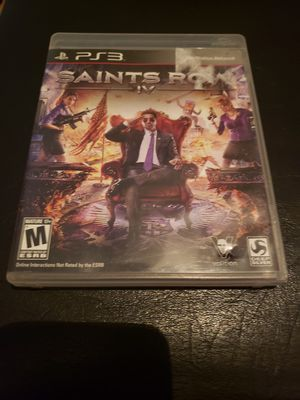 PS3   SAINTS ROW IV for Sale in Boiling Springs, SC