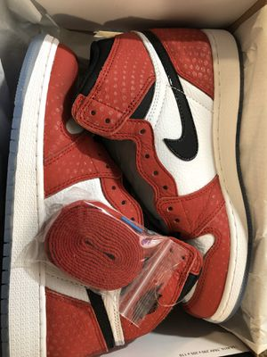 Air Jordan 1 high original OG Spider-Man 7Y(GS) brand new with box for Sale in Gaithersburg, MD
