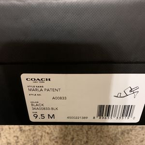 Coach - patent leather heels for Sale in Cypress, TX