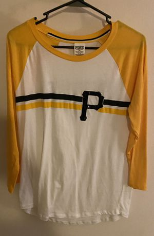 Victoria secret pink size large 3/4 length baseball tee Pittsburgh Pirates for Sale in Aliquippa, PA