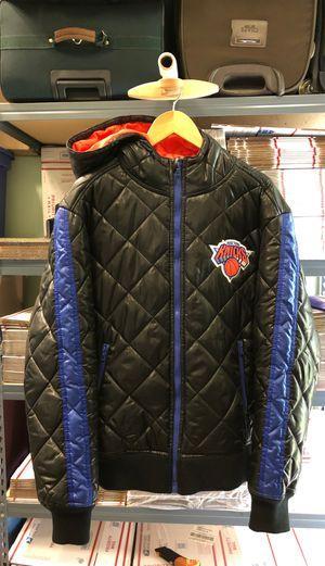 NBA New York Knicks Sz 2XL Puffer Hoodie Zip Jacket Black NICE SEE!! for Sale in Woodland Park, NJ