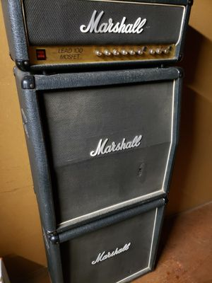 Marshall lead 100 mosfet and vertical extension amp for Sale in Milwaukie, OR