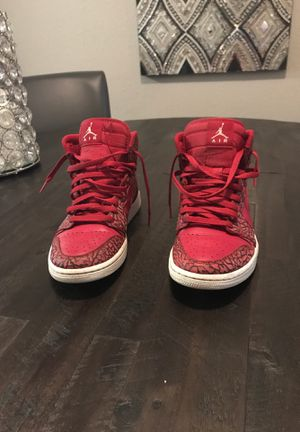 Air Jordan High Top Red White S Nike 1 Size 8.5 for Sale in Hialeah, FL