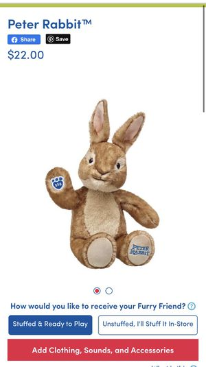 "Brand NEW with tags Build a bear Peter Rabbit 20"" for Sale in Bellflower, CA"