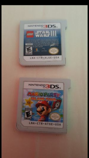 2 NINTENDO 3DS GAMES MARIO PARTY ISLAND TOUR & STAR WARS 3 for Sale in Tampa, FL