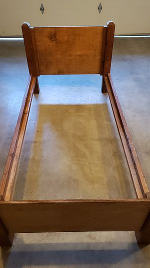 Twin wooden bed frame for Sale in Vancouver, WA