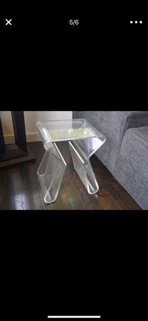 Modern Side Tables - Acrylic for Sale in Seattle, WA