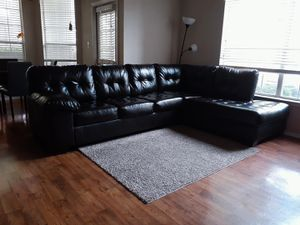 ASHLEY 2 Piece Sectional with Chaise in Chocolate Brown for Sale in Richardson, TX