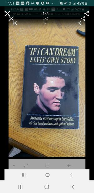 Peoria az If i can dream Elvis Presley hardcover book please read description for pick up location options for Sale in Sun City, AZ