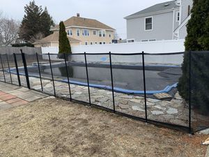 Babyloc pool fence. 5 ft high and about 45 feet of fence including a locking gate. for Sale in North Andover, MA