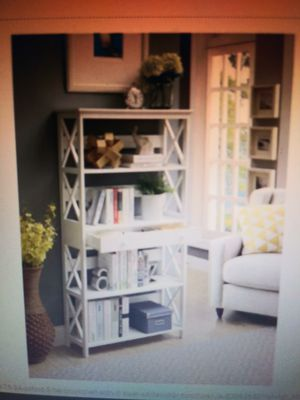 Oxford 5 Tier Bookcase with Drawer S20-208, White Finish for Sale in Wylie, TX