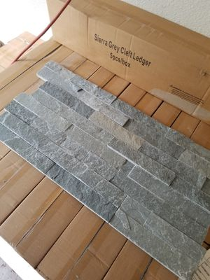 6x24 stacked ledger gray slate stone tile for wall for Sale in Portland, OR