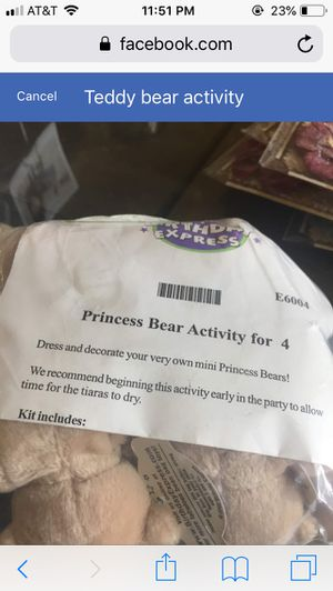Teddy bear activity for Sale in Naperville, IL