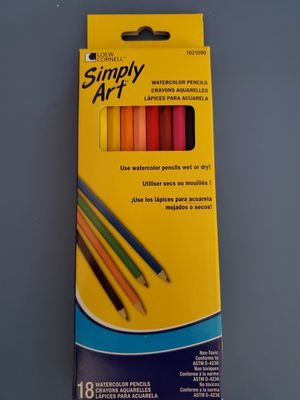 Simply Art Watercolor Colored Pencils - 18 Pack for Sale in Lewisville, TX