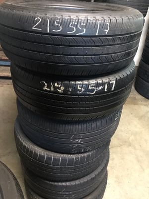 215/55/17 mixed tires 60% tread for Sale in Tigard, OR
