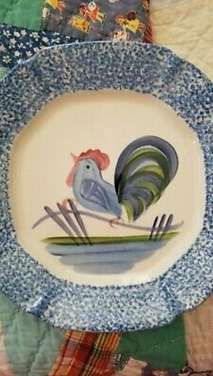 Country Rooster Dinner Plates Hand Painted 12 ea for Sale in Pismo Beach, CA