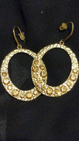 Golden hooped earrings for Sale in San Bernardino, CA