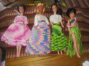 Homemade crocheted Barbie cloths for Sale in Albuquerque, NM
