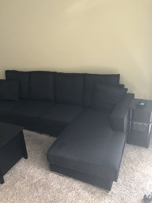 Black sectional couch for Sale in Houston, TX