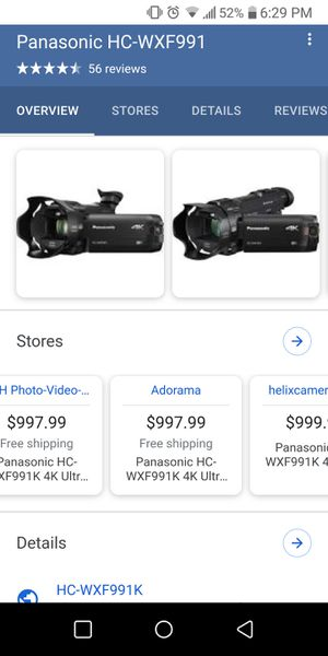 Panasonic 4k Camcorder for Sale in Moreno Valley, CA