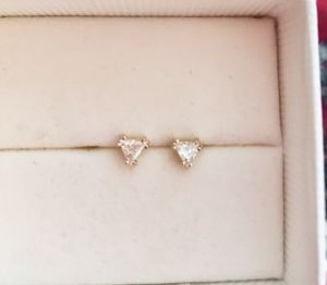 Reduced 1/4 carat (trilliant cut) diamond earrings. for Sale in Beverly Hills, CA