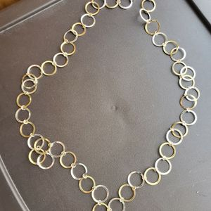 Silver & Gold Ring Necklace for Sale in Winter Haven, FL