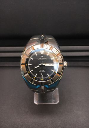 Croton MEN'S ALL STAINLESS SWISS AUTOMATIC WITH Black dual for Sale in Lone Tree, CO